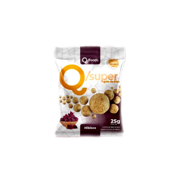 QSuper Snack Grão d Bico com Hibisco Display 6 x 25g
