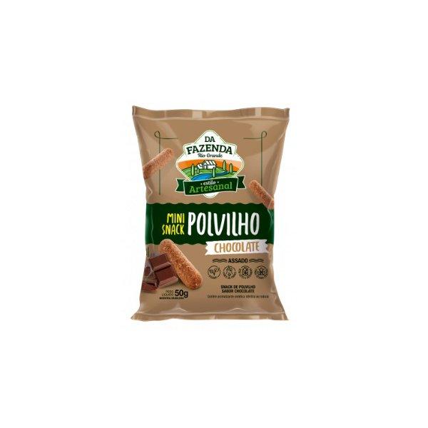 Da Fazenda Mini Snack Polvilho Sabor Chocolate Display 12x50g