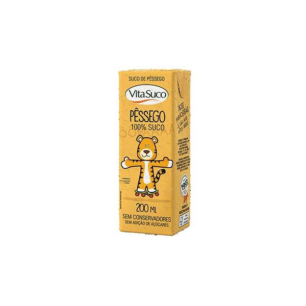 100% Suco Pêssego Sem Açúcar 200ml