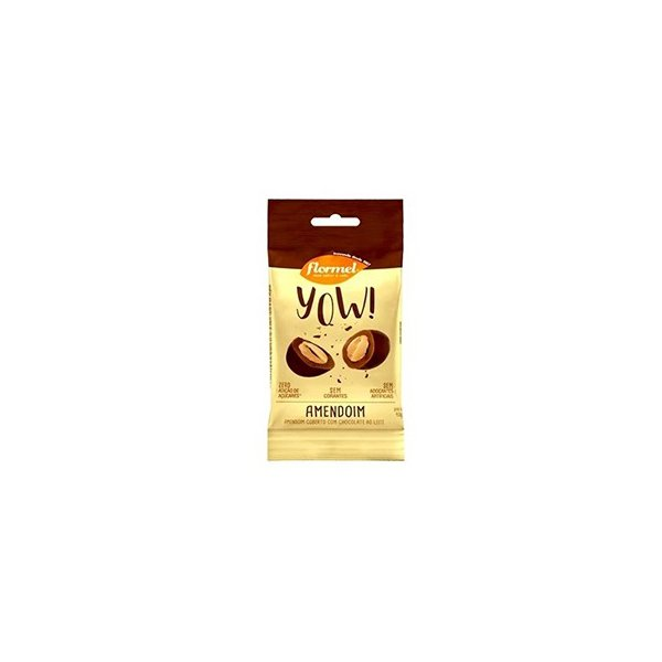 YOW Amendoim com Cobertura Chocolate Zero Display 8x40g