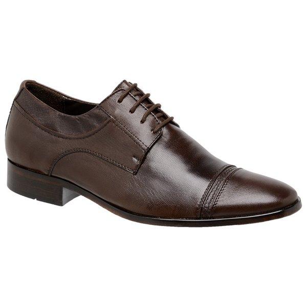 Sapato Social Oxford Pelica/Linho Chocolate