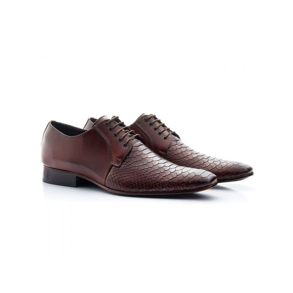 Sapato Social Masculino Couro Croco Mouro 306