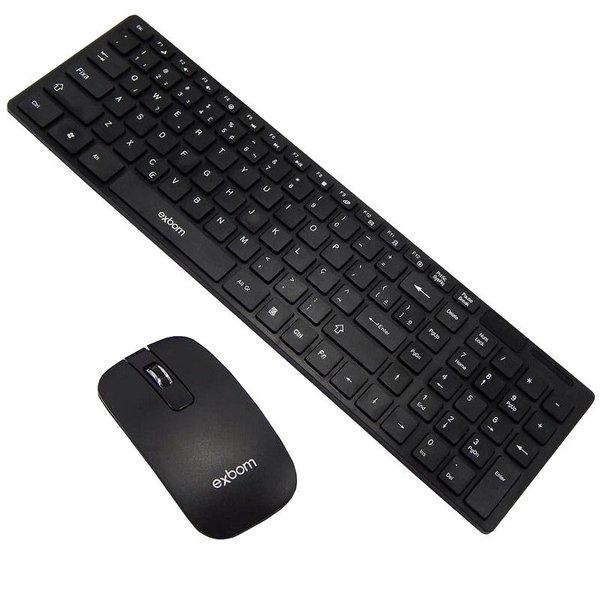 Kit Teclado Mouse Sem Fio Slim Wireless Usb C/ Capa Silicone