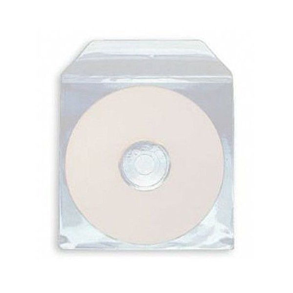 Envelope Plástico p/ Cd Reforçado Aba c/100un.