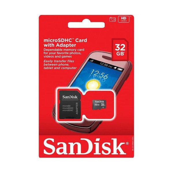 CARTÃO DE MEMORIA MICRO SD - 32GB SANDISK