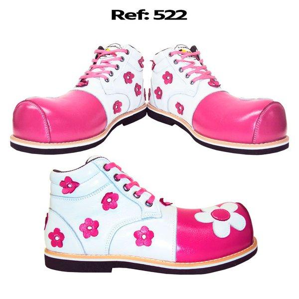 Sapato de palhaça flores tipo botinha ref. 522