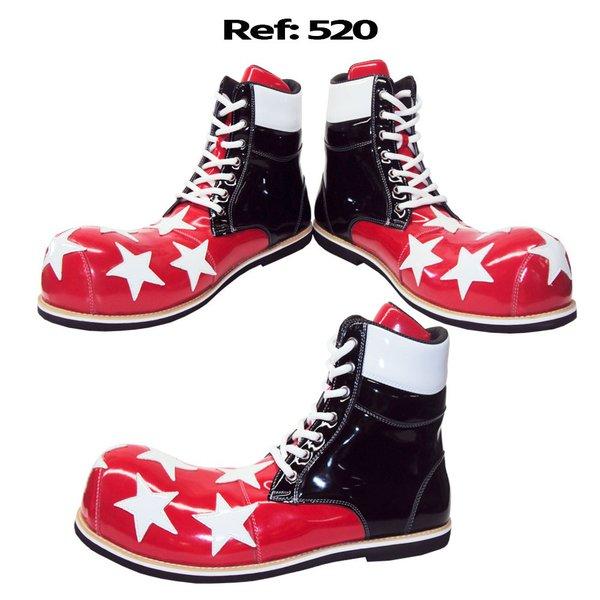 Sapato de palhaço coturno estrelas Ref 520