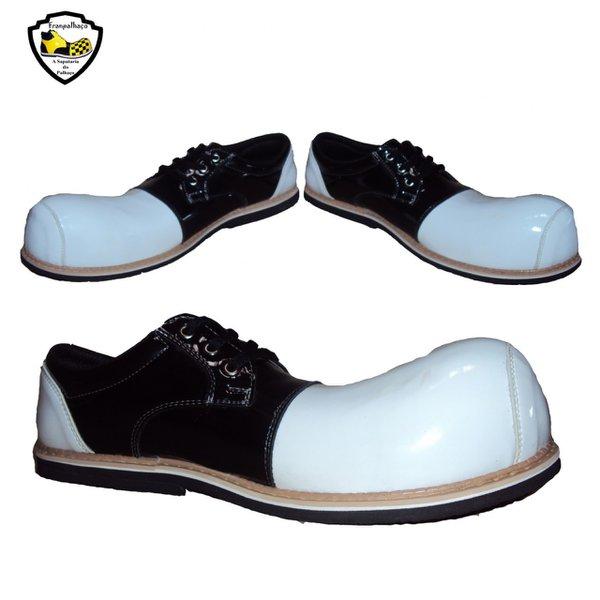Sapato de Palhaço Preto com Branco Ref 504