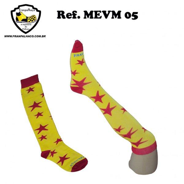 MEIA ESTRELA AMARELA/VERMELHA Ref MEVM 05