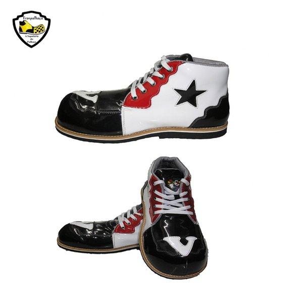 Sapato de Palhaço Branco/Preto/Vermelho Ref 401