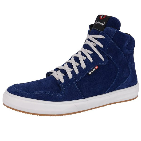 Sapatênis Masculino em Couro Azul Sneakers Galway 505