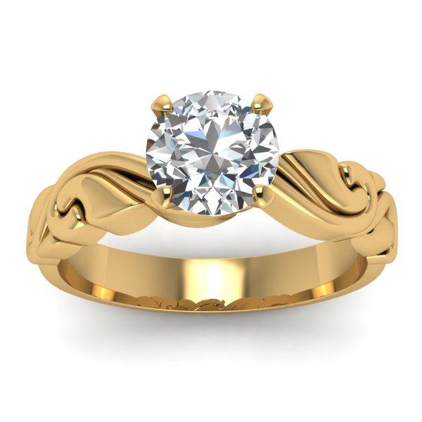 Solitário em Ouro 18k com Diamante de 40 Pontos