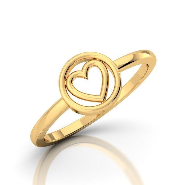 Anel Coração Love Ouro 18k 750