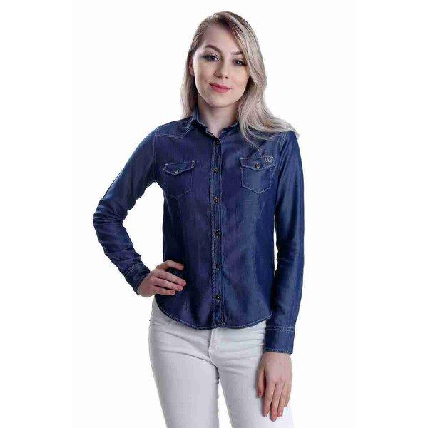 Camisa Jeans Geração 148 Feminina