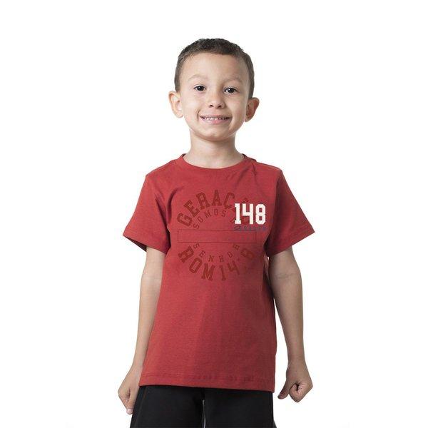 Camiseta Infantil Geração 148 2019 Vermelho Terra cota