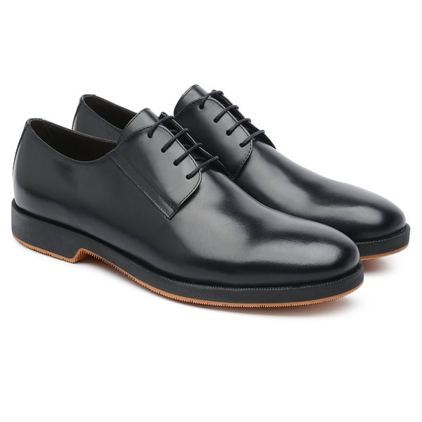Derby Plain Toe Preto 359013