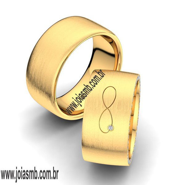 Alianças de Ouro 18k Aracaju 10mm