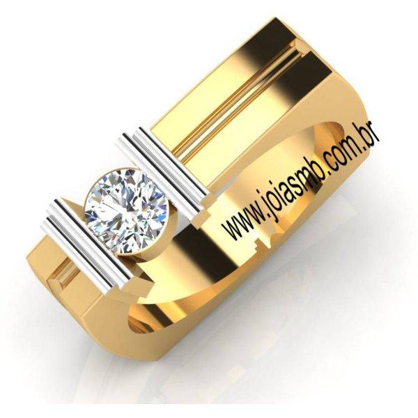 Anel de Ouro Masculino Bauru