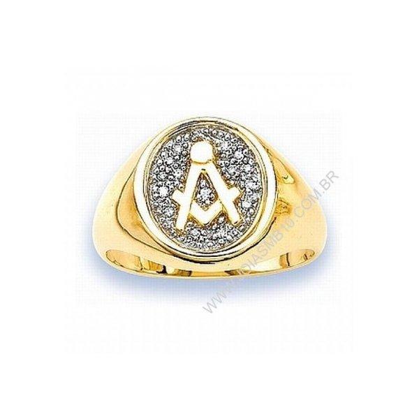 Anel de Ouro Masculino Jundiaí