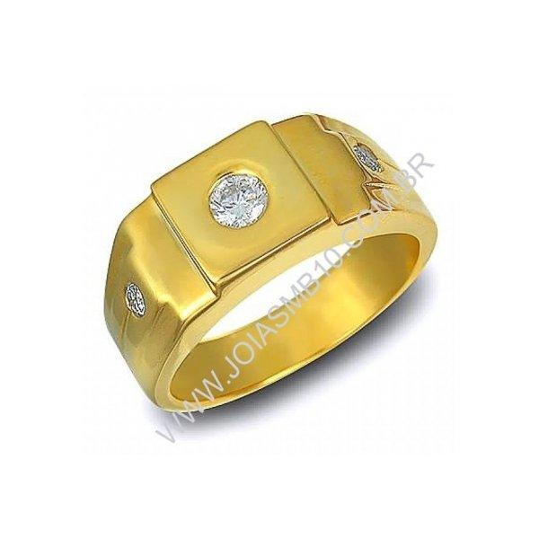 Anel de Ouro Masculino Mauá