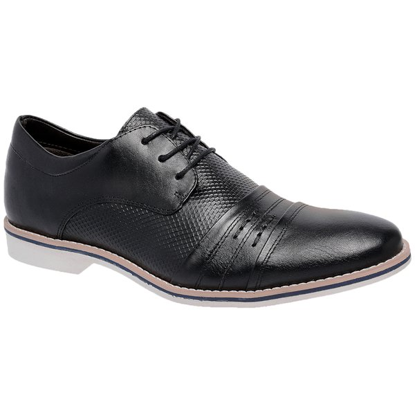 Sapato- Social- oxfort-Couro- Naturally- preto- 96