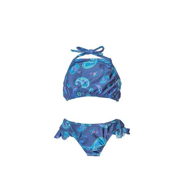 Paisley Azul - Biquini Infantil