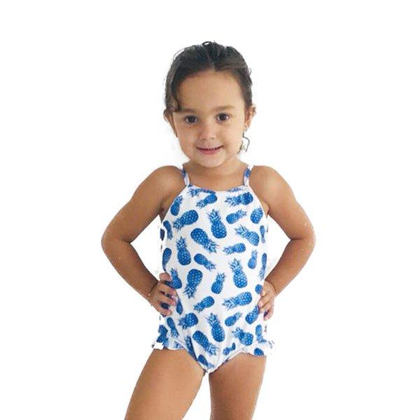 Abacaxi Azul - Maiô Infantil
