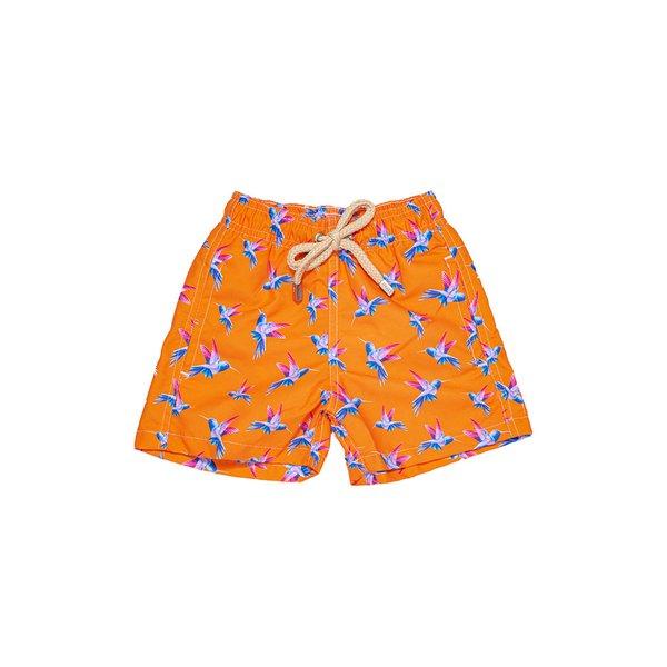Beija-Flor Laranja - Shorts Infantil