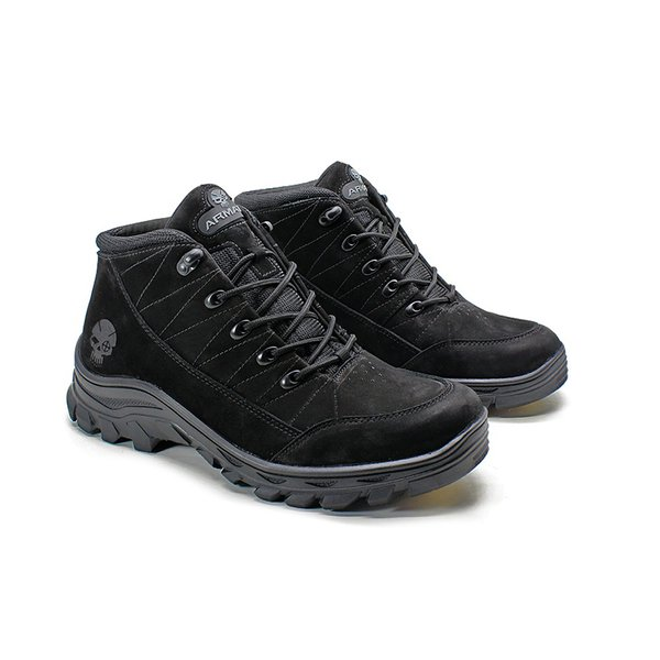 Bota Adventure Armata Cross - Preto Nobuck