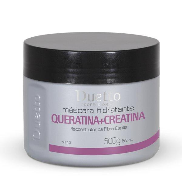 Máscara Hidratante Queratina + Creatina Duetto 500g