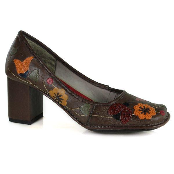 Sapato Em Couro Galeany Alto Coffee J.Gean