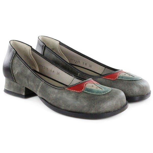 Sapato Em Couro Evelin Baixo Titanium J.Gean