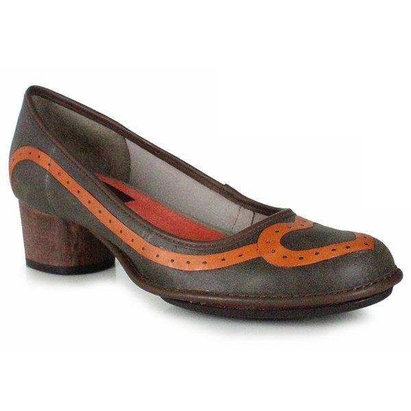 Sapato Em Couro Lolla Baixo Café J.Gean