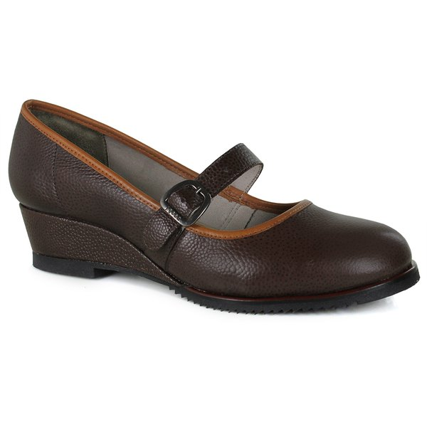 SAPATO EM COURO COFFEE J.GEAN AMOSTRA ST0004-08