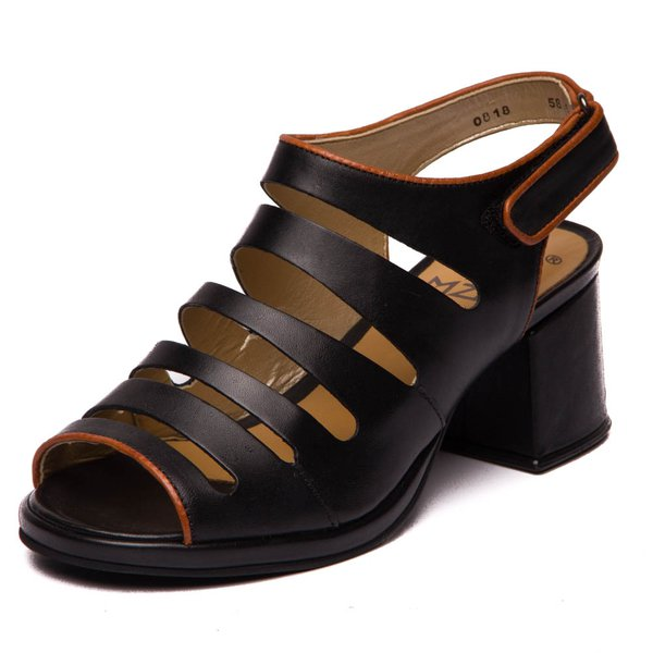 Sandália Feminina Grace Kelly - Preto / Papaya 5855
