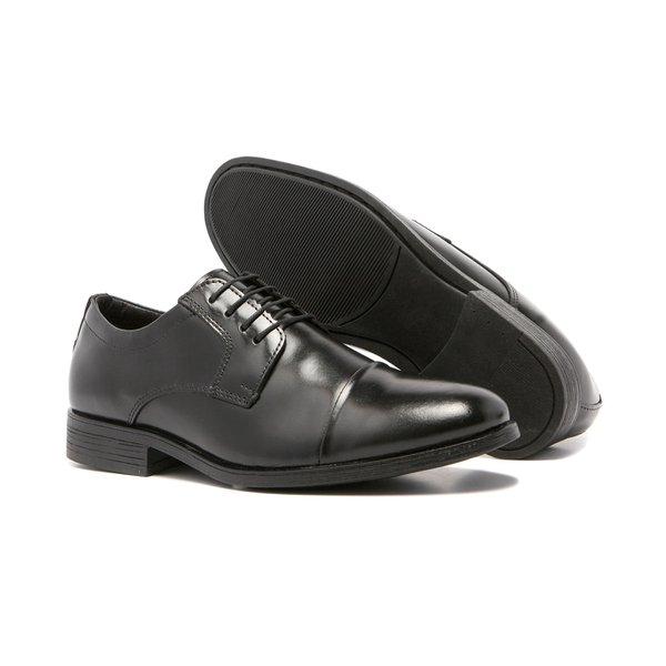 Sapato Social Masculino Quebec Roma Couro Preto