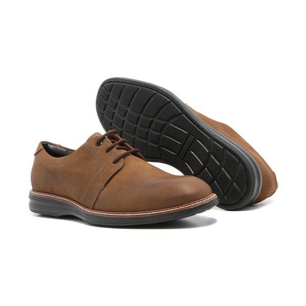 Sapato Masculino Quebec Marrocos Caqui Nobuck Legítimo