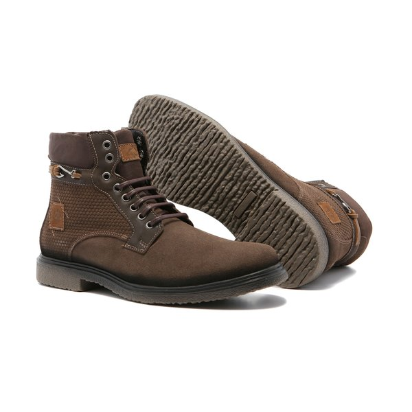 Bota Masculina Quebec Puno Brown