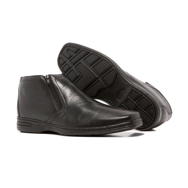Sapato Social Quebec Denny Couro Preto