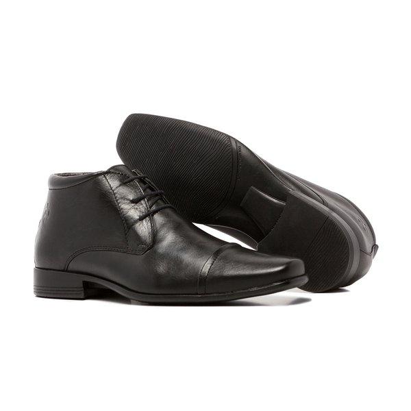 Sapato Social Quebec Sloan Preto Couro Legítimo