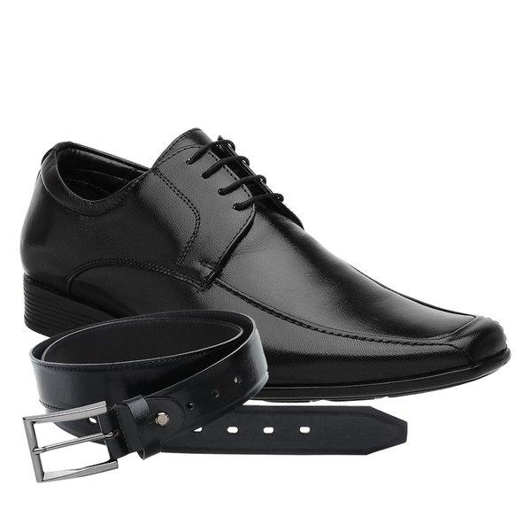 Sapato Jota Pe Preto Air Regent + Cinto de Couro