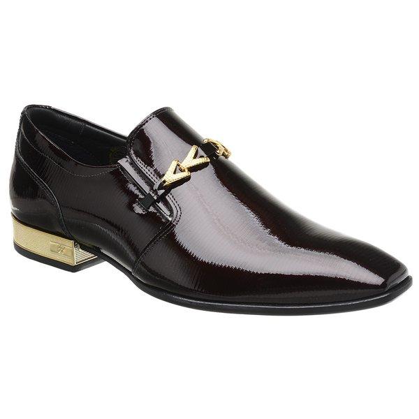 Sapato Social Jota Pe Verniz Vinho Montblanc Gold