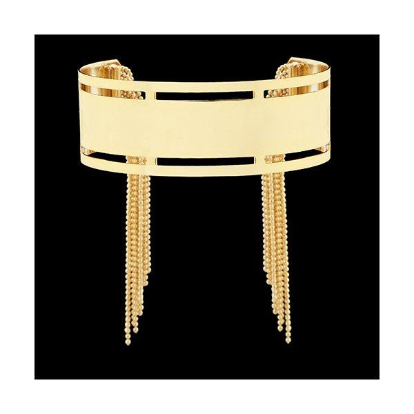 Pulseira Folheada à Ouro Tipo Bracelete com Franja