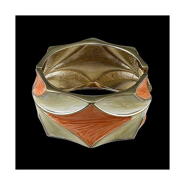 Pulseira Bracelete Com Detalhes Resina Colorida