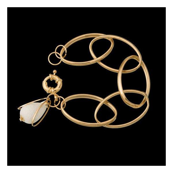 pulseira folheada a ouro,com pedra natural