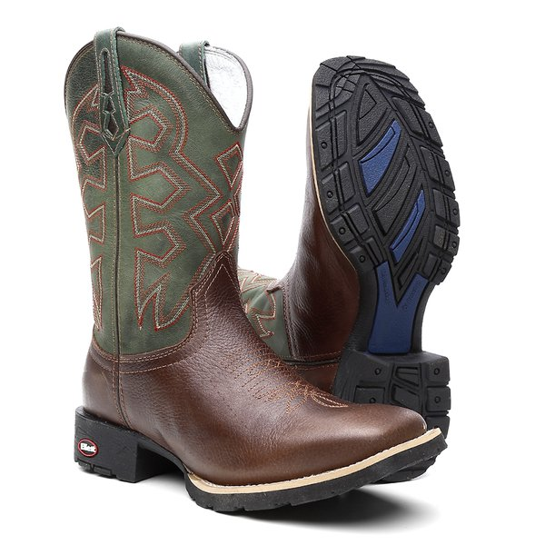 Bota Texana Masculina Military