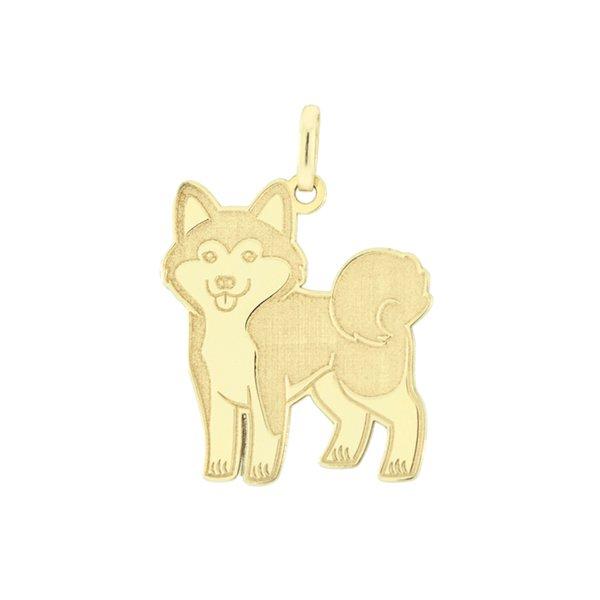 Pingente Cachorro Akita em Ouro 18K