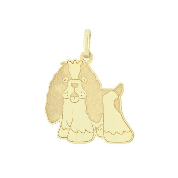 Pingente Cachorro Cocker em Ouro 18K