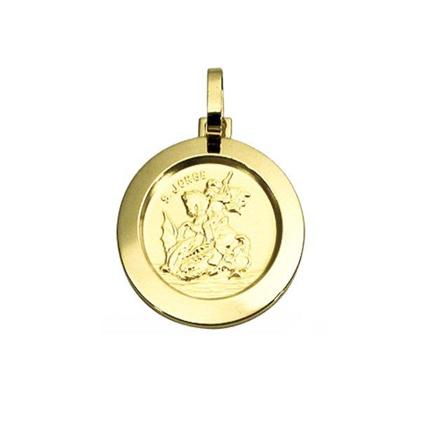 Pingente Medalha São Jorge em Ouro 18K