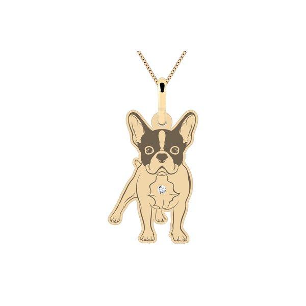 Pingente Cachorro Boston Terrier em Ouro 18K
